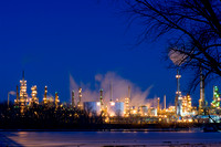 Oil Refinery at Night in St. Paul Park
