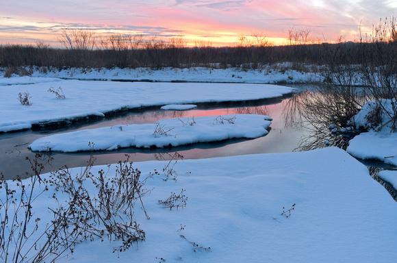 Winter Twilight at Minnesota Valley Wildlife Refuge