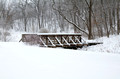Kaposia Park Snow Covered Bridge